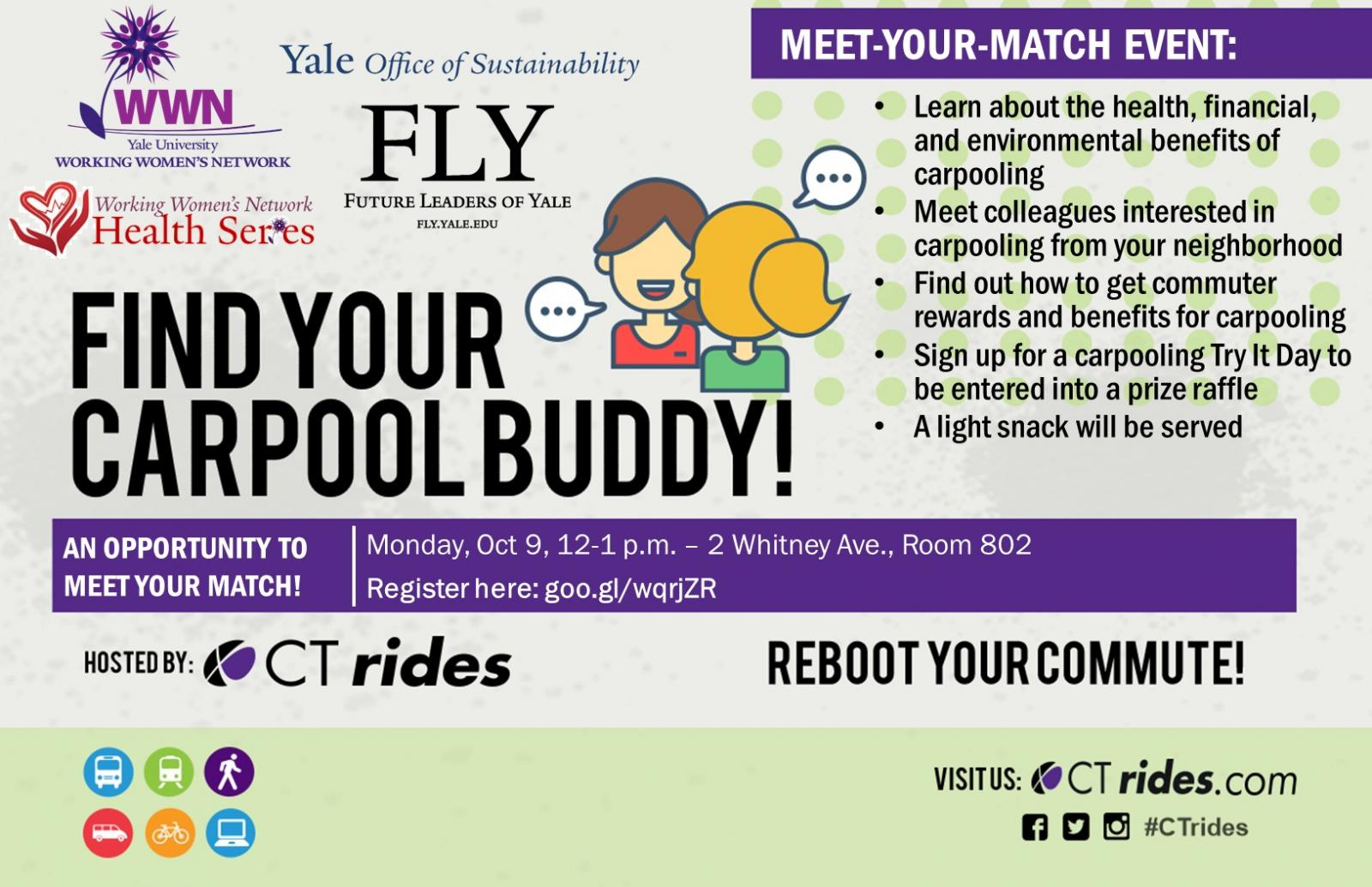 carpooling meet your match event