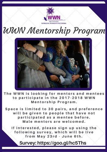 2017 2018 WWN Mentorship Program Call For Mentors Mentees