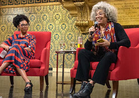 Photo of Crystal Feimster and Angela Davis