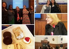 Photo Collage of Tea with Judith Schiff Event