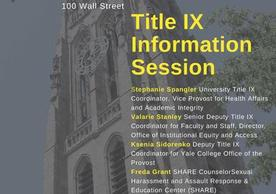 Title IX Information Session Flyer